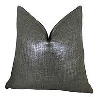 Plutus Brands Glazed Linen Indigo Handmade Throw Pillow; 26'' H x 26'' W