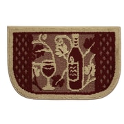 Structures Textured Loop Wine Tasting Wedge Slice Kitchen Area Rug