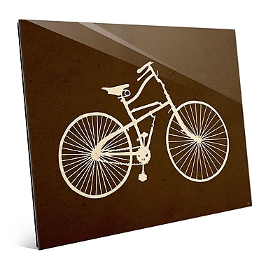 Click Wall Art 'Bicycle Silhouette Umber' Graphic Art; 11'' H x 14'' W x 1'' D