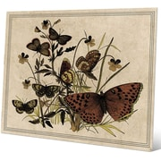 Click Wall Art '7 Butterfly and Clovers Drawing Paper' Graphic Art; 20'' H x 30'' W x 0.04'' D