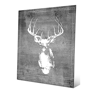 Click Wall Art 'Buck Drawing' Graphic Art; 24'' H x 20'' W x 0.04'' D