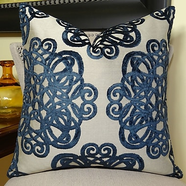 Plutus Brands Archetype Sapphire Double Sided Throw Pillow; 24'' H x 24'' W