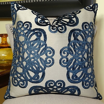 Plutus Brands Archetype Sapphire Double Sided Throw Pillow; 26'' H x 26'' W