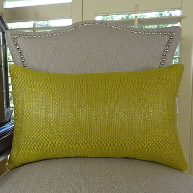 Plutus Brands Lemon Curry Double Sided Cotton Lumbar Pillow; 12'' H x 20'' W