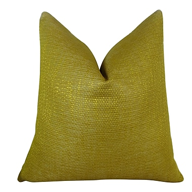Plutus Brands Lemon Curry Double Sided Cotton Throw Pillow; 16'' H x 16'' W