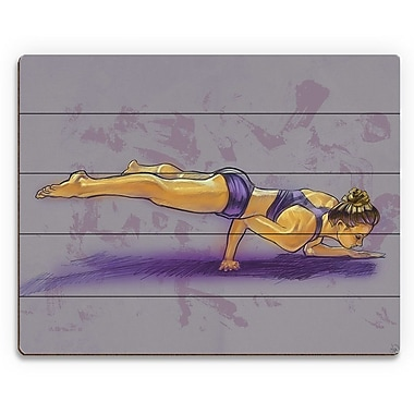 Click Wall Art 'Nadine in Yoga Pose' Painting Print on Plaque; 20'' H x 30'' W x 1'' D