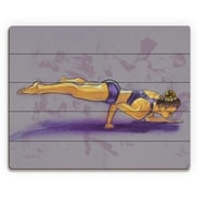 Click Wall Art 'Nadine in Yoga Pose' Painting Print on Plaque; 16'' H x 20'' W x 1'' D