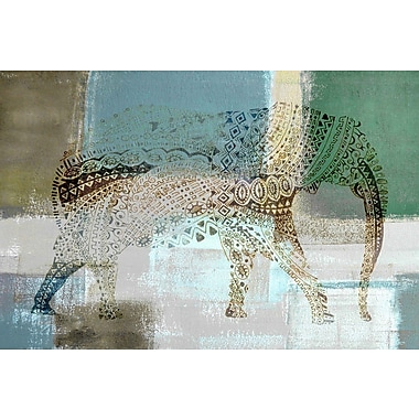 Marmont Hill 'Jeweled Elephant' Painting Print on Wrapped Canvas; 12'' H x 18'' W x 1.5'' D