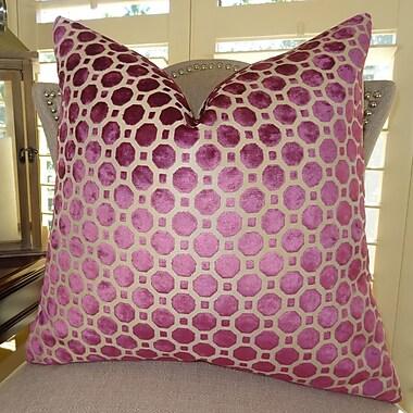 Plutus Brands Velvet Geo Handmade Throw Pillow; 22'' H x 22'' W