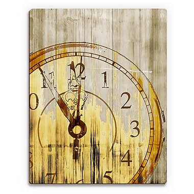 Click Wall Art 'Stain Clock Buff' Graphic Art on Plaque; 14'' H x 11'' W x 1'' D
