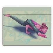 Click Wall Art 'Alegra Yoga Pose' Painting Print on Plaque /Blue; 16'' H x 20'' W x 1'' D
