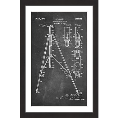 Marmont Hill 'Tripod 1942 Chalk' by Steve King Framed Painting Print; 36'' H x 24'' W x 1.5'' D