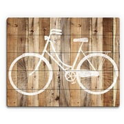 Click Wall Art 'Bicycle Wood' Wall Art on Plaque; 16'' H x 20'' W x 1'' D