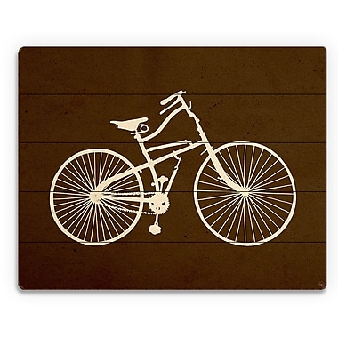 Click Wall Art 'Bicycle Silhouette Umber' Graphic Art on Plaque; 20'' H x 30'' W x 1'' D