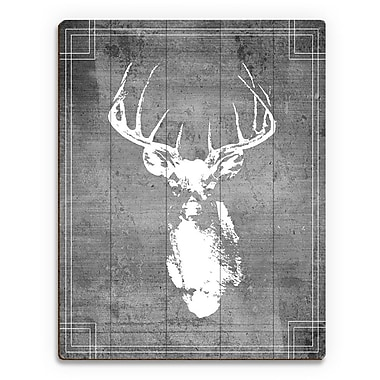 Click Wall Art 'Buck Drawing' Graphic Art on Plaque; 14'' H x 11'' W x 1'' D