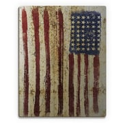 Click Wall Art 'Distressed Flag' Graphic Art on Plaque; 12'' H x 9'' W x 1'' D