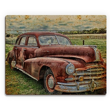 Click Wall Art 'Drive Me Back' Graphic Art on Plaque; 20'' H x 24'' W x 1'' D