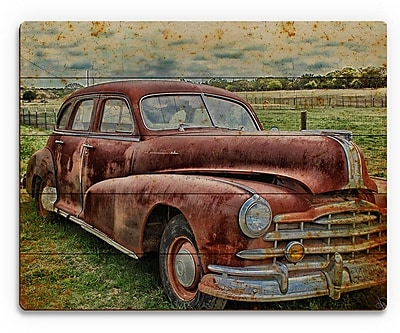 Click Wall Art 'Drive Me Back' Graphic Art on Plaque; 9'' H x 12'' W x 1'' D