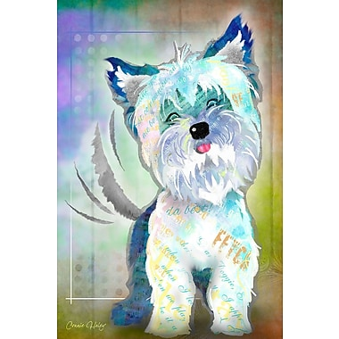 Marmont Hill 'Wag It Ii' by Connie Haley Painting Print on Wrapped Canvas; 30'' H x 20'' W x 1.5'' D