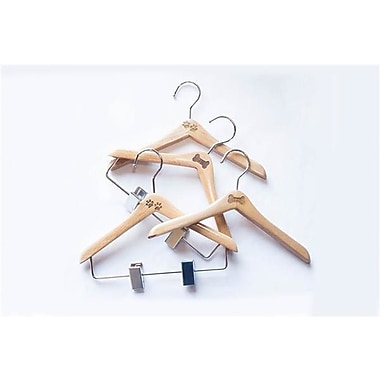 NAHANCO Wooden Hanger (Set of 5); Paw