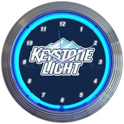 Neonetics 15'' Keystone Light Beer Neon Clock