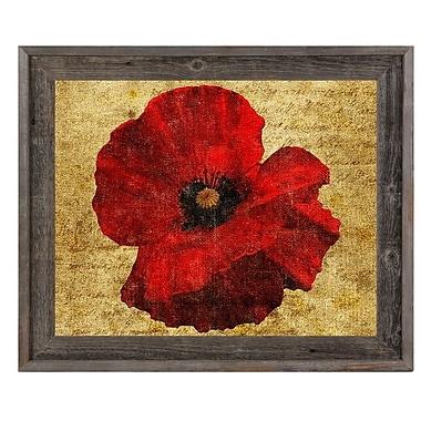 Click Wall Art 'Poppy Flower' Framed Graphic Art; 14.5'' H x 17.5'' W x 1'' D