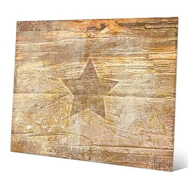 Click Wall Art 'Ochre Branded Star' Graphic Art; 20'' H x 24'' W x 0.04'' D