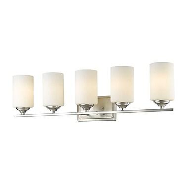 Z-Lite Bordeaux 5-Light Vanity Light; Brushed Nickel