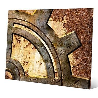 Click Wall Art 'Rusty Gear' Graphic Art; 20'' H x 30'' W x 0.04'' D