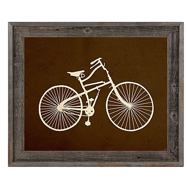 Click Wall Art 'Bicycle Silhouette Umber' Framed Graphic Art; 23.5'' H x 33.5'' W x 1'' D