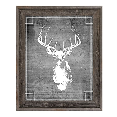 Click Wall Art 'Buck Drawing' Framed Graphic Art; 27.5'' H x 23.5'' W x 1'' D