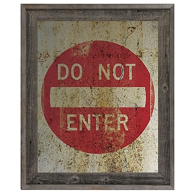 Click Wall Art 'Do Not Enter Weathered' Framed Graphic Art; 17.5'' H x 14.5'' W x 1'' D