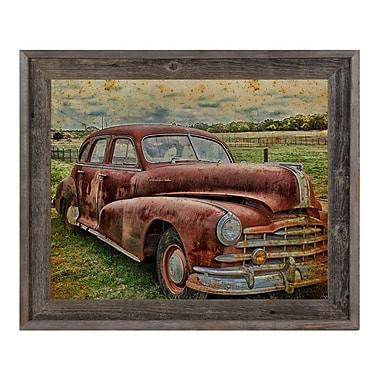 Click Wall Art 'Drive Me Back' Framed Graphic Art; 23.5'' H x 27.5'' W x 1'' D