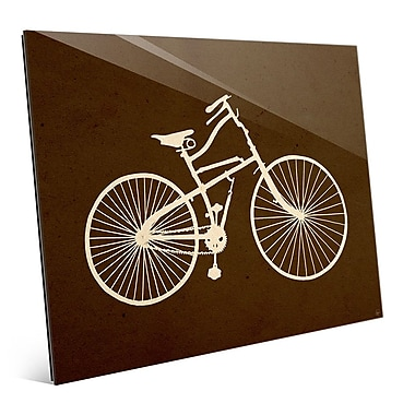 Click Wall Art 'Bicycle Silhouette Umber' Graphic Art; 20'' H x 24'' W x 1'' D