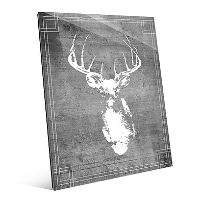 Click Wall Art 'Buck Drawing' Graphic Art; 24'' H x 20'' W x 1'' D