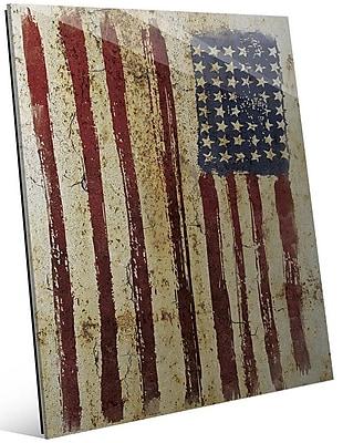 Click Wall Art 'Distressed Flag' Graphic Art; 24'' H x 20'' W x 1'' D
