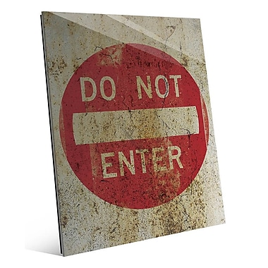 Click Wall Art 'Do Not Enter Weathered' Graphic Art; 24'' H x 20'' W x 1'' D