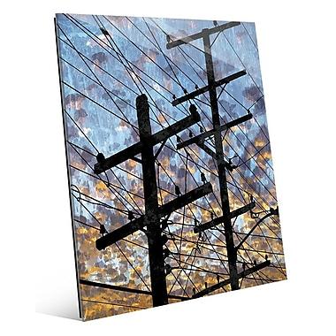 Click Wall Art 'Electric Link' Graphic Art; 24'' H x 20'' W x 1'' D