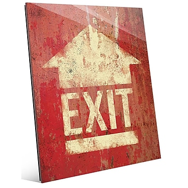 Click Wall Art 'Exit' Graphic Art; 14'' H x 11'' W x 1'' D