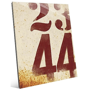 Click Wall Art 'Faded Numbers' Graphic Art; 20'' H x 16'' W x 1'' D