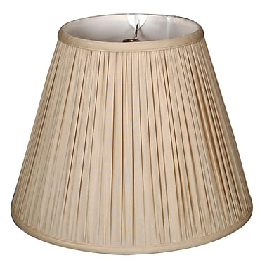 RoyalDesigns Timeless 16'' Silk Empire Lamp Shade; Antique Gold/Off White