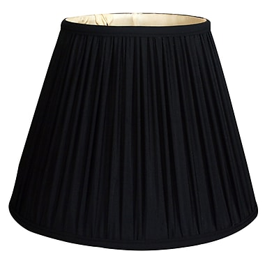 RoyalDesigns Timeless 20'' Silk Empire Lamp Shade; Black/Gold