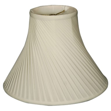 RoyalDesigns Timeless 12'' Silk Bell Lamp Shade; White/Off White
