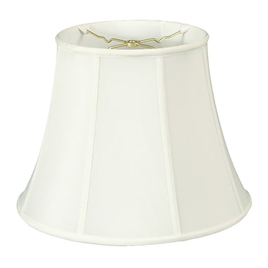 RoyalDesigns Timeless 15'' Silk Bell Lamp Shade; White/Off White
