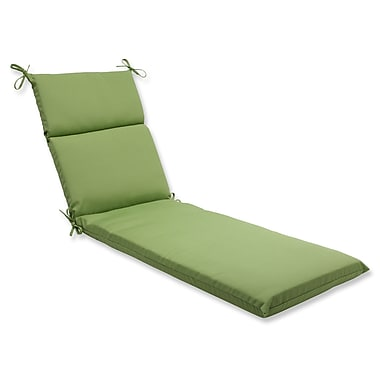 Pillow Perfect Canvas Outdoor Chaise Lounge Cushion; Ginko