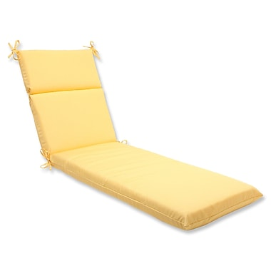 Pillow Perfect Canvas Outdoor Chaise Lounge Cushion; Buttercup