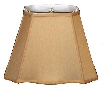 RoyalDesigns Timeless 12'' Silk Empire Lamp Shade; White/Off White