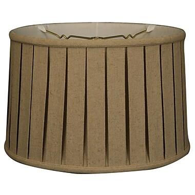 RoyalDesigns Timeless 18'' Linen Drum Lamp Shade; Beige