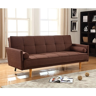 BestMasterFurniture Convertible Sofa; Brown