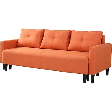BestMasterFurniture Convertible Sofa; Orange